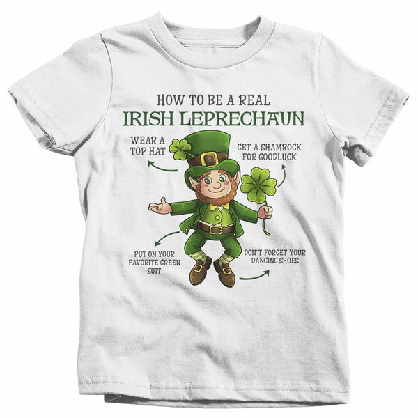 Kids Irish Leprechaun T Shirt Cute St Patrick's Day Shirt Adorable Baby Shirt Irish Shirt Toddler T Shirt Leprechaun Shirt-Shirts By Sarah