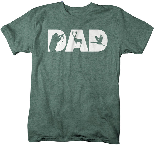 Men's Hunting Dad T Shirt Father's Day Gift Hunter Shirt Hunting Gift Daddy Hunt Shirt Dad Goose Buck Deer Shirt-Shirts By Sarah