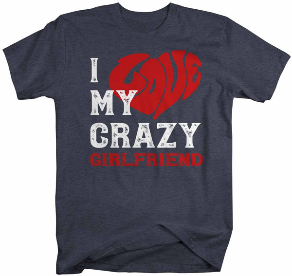 Men's Valentines Day T Shirt Valentine's Day Girlfriend Shirts Love My Crazy Girlfriend Valentines TShirt-Shirts By Sarah