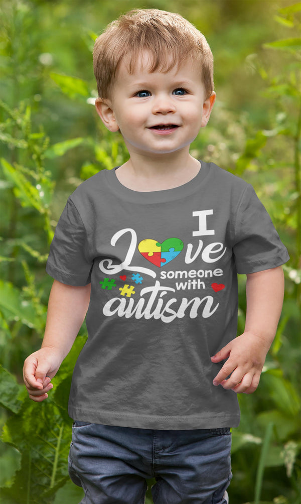 Kids Autism T Shirt Love Someone With Autism Shirt Heart Puzzle Love Autism T Shirt Autism Awareness Shirt-Shirts By Sarah