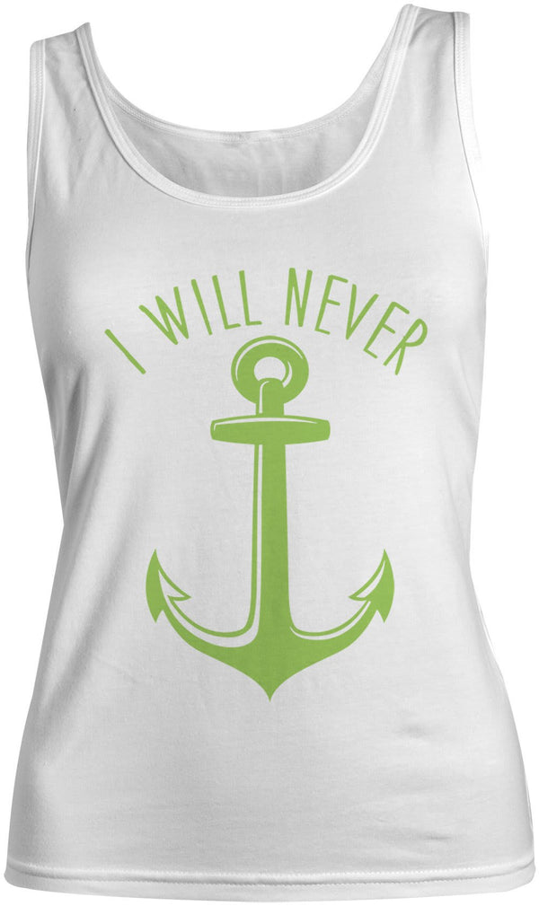Women's Nautical Anchor Cotton Best Friend Tank Tops (I Will Never)-Shirts By Sarah