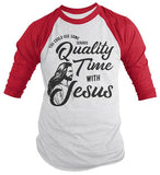 Men's Funny Jesus Raglan Need Quality Time Religious Christian Y'all Need Jesus Shirt 3/4 Sleeve-Shirts By Sarah