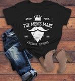 Personalized Women's Barber Shop T-Shirt Barbers Shirts Beard Crown Mustache Vintage Custom Shirt-Shirts By Sarah