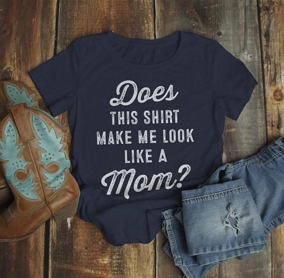 Women's Cute Baby Reveal Idea T-Shirt Does Shirt Make Me Look Like Mom Expecting Tee-Shirts By Sarah
