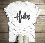 Men's Hubs T-Shirt Husband Shirt Wedding Groom Matching Couple's Tee Retro Grunge-Shirts By Sarah