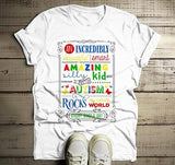 Men's Autism Dad Shirt Autism Awareness Shirts Awesome Rocks My World Autism T Shirt-Shirts By Sarah