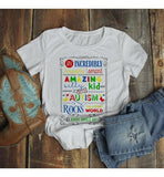 Women's Autism Mom Shirt Autism Awareness Shirts Awesome Rocks My World Autism T Shirt-Shirts By Sarah