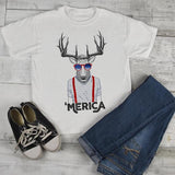 Kids Hipster Shirt Merica T Shirt Patriotic 4th July Deer Graphic Tee Baby Hipster Clothes-Shirts By Sarah