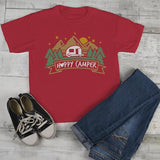 Kids Happy Camper T Shirt Mountains Shirt Forest Camping Graphic Tee Shirts-Shirts By Sarah