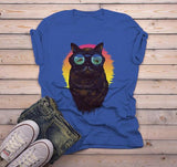 Men's Hipster T Shirt Cat Shirt Punk Kitty Graphic Tee Goggles Fish Artistic Shirts-Shirts By Sarah