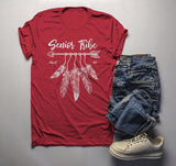 Men's 2019 Senior T Shirt Senior Tribe Shirt Class 2019 Graphic Tee Boho Arrow Feathers-Shirts By Sarah