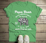 Men's Papa Bear T Shirt Ferocity Old Man Shirt Father's Day Gift Protecting Cubs Grandpa Graphic Tee-Shirts By Sarah