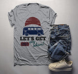Men's Vintage Van T Shirt Camping Shirts Let's Get Lost Graphic Tee Travel Road Trip TShirt-Shirts By Sarah