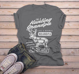 Men's Grandpa T Shirt Hunting Graphic Tee Like Normal Grandpa But Much Cooler Vintage Funny Shirts-Shirts By Sarah
