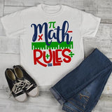 Kids Cute Math T Shirt Math Rules Back To School Shirts Boy's Girl's Tee-Shirts By Sarah