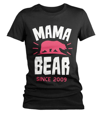 1f0e4af993a Women s Personalized Mama Bear T Shirt Mom Since Shirts Custom Graphic Tee  Mother s Day-Shirts