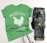 Men's Funny Chicken Farm T-Shirt Mother Clucker Vintage Chickens Raise Shirt Tee-Shirts By Sarah