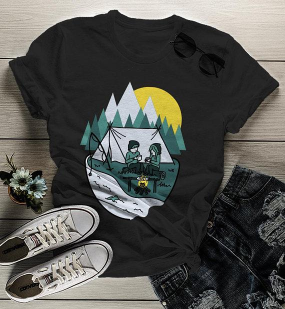 Image result for Camping T shirt