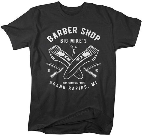 Personalized Men's Barber Clippers T-Shirt Barbers Shirts Vintage Custom Shirt-Shirts By Sarah