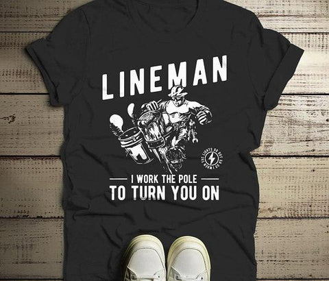 Men's Funny Lineman T-Shirt Shirts By Sarah