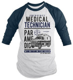 Men's Funny Paramedic Raglan EMT Shirts Do It In Rear Tee Ambulance Shirt 3/4 Sleeve-Shirts By Sarah