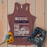 Women's Funny Paramedic Flowy Tank EMT Shirts Do It In Rear Ambulance Tanks Racerback-Shirts By Sarah