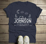 Men's Personalized Camping T-Shirt Tent Line Art Moon Shirts Custom Hipster Tee-Shirts By Sarah