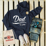 Men's Dad Hoodie Gift EST. 2018 New Baby Reveal Idea Gift Sweatshirt Pullover-Shirts By Sarah