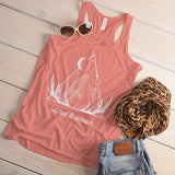 Women's Geometric Hipster Tank Wander Graphic Tee Get Lost Antlers Moon Wanderlust Shirts Top-Shirts By Sarah
