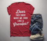 Men's Cute Baby Reveal Idea T-Shirt Does Shirt Make Me Look Grandpa Papa Promoted Tee-Shirts By Sarah