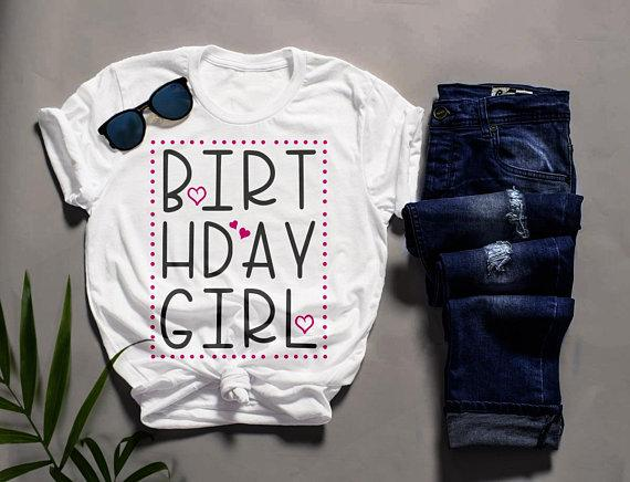 Men's Cute Birthday Girl T-Shirt Party Girl's Night Tee Bday Gift Idea-Shirts By Sarah