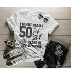 Women's Funny 50th Birthday T-Shirt Not 50, 21 With 29 Years Experience Shirt-Shirts By Sarah
