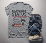 Men's Funny Nursing Student T-Shirt Relationship Status School Shirt Nurses Tee-Shirts By Sarah