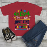 Kids Autism Shirt Be Fine Parents Like Mine Tshirt Cute Autism T Shirt Puzzle Heart-Shirts By Sarah
