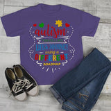 Kids Autism Shirt Autism Journey Shirts Different Road Map Autism T Shirt-Shirts By Sarah
