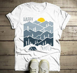Men's Happy Camper T Shirt Sunset Shirts Camping Tee Nature Tshirt Wanderlust Clothing-Shirts By Sarah