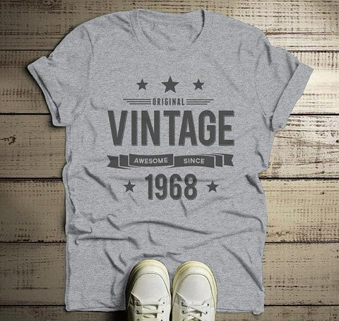 15e34dab3 Men's 50th Birthday T Shirt Original Vintage Shirt Awesome Since 1968 Tshirt -Shirts By Sarah