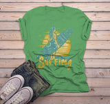 Men's Surfing T Shirt Surf Graphic Tee Vacation Beach Shirt Ocean Shirts Sunset-Shirts By Sarah