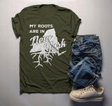 Men's New York T Shirt Roots Are In Shirt State Pride Shirts Gift Idea Tee-Shirts By Sarah