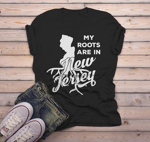 Men's New Jersey T Shirt Roots Are In Shirt State Pride Shirts Gift Idea Tee-Shirts By Sarah