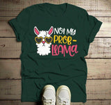 Men's Funny Llama T Shirt Not My Problem Shirt Probllama Hilarious Graphic Tee Summer Cute Shirts-Shirts By Sarah