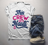 Men's Bridal Party T Shirt Crew Gets Nauti Funny Bachelorette Party Shirts Nautical Anchor Tee-Shirts By Sarah