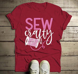 Men's Funny Sewing T Shirt Seamstress Sew Crafty Gift Idea TShirt Thread Tee-Shirts By Sarah