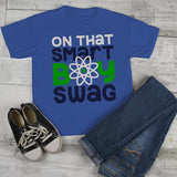 Boy's Funny T shirt Back To School Tee Smart Boy Swag Science Shirts Cute Boys-Shirts By Sarah