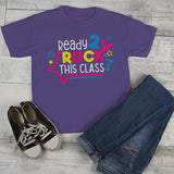 Kids Cute School T Shirt Rock This Class Shirts Guitar Graphic Tee Boy's Girl's Cute Back To School TShirt-Shirts By Sarah