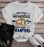 Women's Camping T Shirt Best Memories Made Shirts Camper Graphic Tee-Shirts By Sarah
