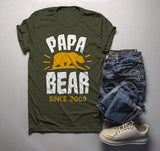Men's Personalized Papa Bear T Shirt Papa Since Shirts Custom Graphic Tee Fathers Day Tshirt-Shirts By Sarah