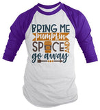Men's Funny Fall T Shirt Pumpkin Spice Shirts Thanksgiving Raglan Graphic Season 3/4 Sleeve Shirt-Shirts By Sarah
