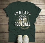 Men's Football T Shirt Sundays Are For Tshirt Football Beer Shirts Vintage Graphic Tee-Shirts By Sarah