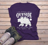 Men's Hipster Bear T Shirt Go Explore TShirt Camping Shirts Vintage Live Wild Graphic Tee-Shirts By Sarah
